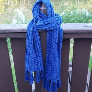 GAP Royal Blue Chunky Knit Scarf
